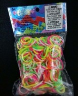 Elastice Rainbow Loom - Neon Mix Duo - 300 buc.