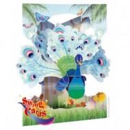 Felicitare 3D Paun-Swing Cards