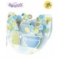 Felicitare 3D Popnrock-Flori in glastra