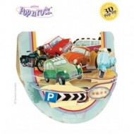 Felicitare 3D Popnrock-Vehicule retro