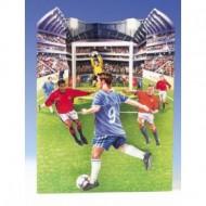 Felicitare 3D Swing Cards dinamica model-Fotbal