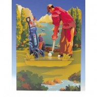 Felicitare 3D Swing Cards dinamica model-Golf