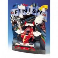 Felicitare 3D Swing Cards dinamica model-Masina de curse