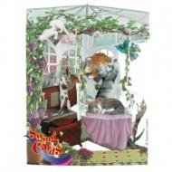 Felicitare 3D Swing Cards dinamica model-Pisici in sera