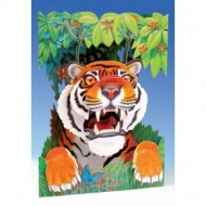 Felicitare 3D Swing Cards dinamica model - Tigru