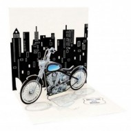 Felicitare 3D Treasure-Motocicleta Harley Davidson