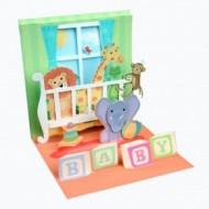 Felicitare 3D Treasure-Patut cu animale