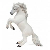 Figurina Papo -Cal alb mare cu coama