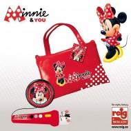 Geanta cu microfon si amplificator Minnie Mouse