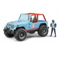 Jeep cross country cu figurina - albastru
