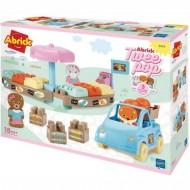 Joc de Construit Piata Twee Pop Abrick cu Masina si 3 Figurine