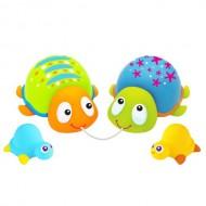 Jucarie de baie Familia testoaselor colorate Escabbo