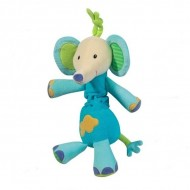 Jucarie muzicala Elefantel - Brevi Soft Toys)