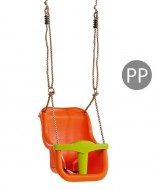 Leagan Baby Seat LUXE Culoare: Orange/Lime Green, franghie PP 10