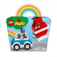 LEGO® DUPLO  ELICOPTER DE POMPIERI SI MASINA DE POLITIE 10957