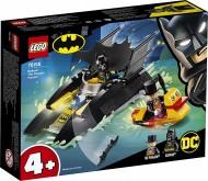LEGO® SUPER HEROES URMĂRIREA PINGUINULUI CU BATBOAT 76158