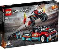 LEGO® TECHNIC CAMION SI MOTOCICLETA PENTRU CASCADORII 42106