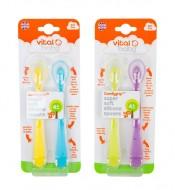 Lingurite din silicon SuperSoft, 2 bucati, Vital Baby - Model - pentru fete