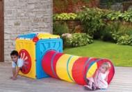 Loc de joaca cub de activitate cu tunel