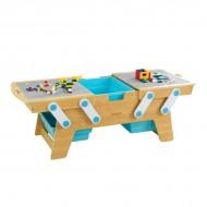 Masa de construit Building Bricks Play N Store - KidKraft
