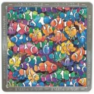 Mega puzzle magnetic  holografic cu pesti arlechin