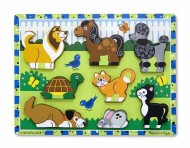 Melissa&Doug - Puzzle in relief animale de companie