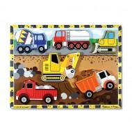 Melissa&Doug - Puzzle lemn in relief Utilaje pentru constructii