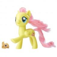 My Little Pony - Figurina Fluttershy cu Animal de Companie