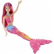 Papusa Barbie Sirena Mattel BRB Mermaid Pink DHM45-DHM47