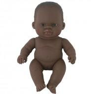 Papusa vinil 21 cm Fetita africana Miniland