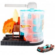 Pista de masini Hot Wheels by Mattel City Downtown Ice Cream Meltdown cu masinuta