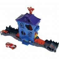 Pista de masini Hot Wheels by Mattel Croc Mansion Attack cu masinuta