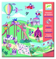 Planșe cu abțibilduri repoziționabile Djeco, Locul de joacă pentru copii