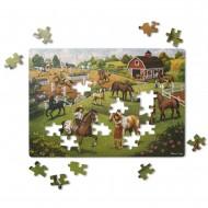Primul meu puzzle eco din carton Calutii - Melissa & Doug