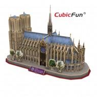 Catedrala Notre Dame Paris Franta (var2) - Puzzle 3D - 128 de piese