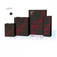 Punga de iarna / Craciun - negru cu rosu XL
