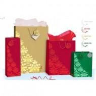 Punga pentru cadou cu tematica de iarna / Craciun pentru sticla