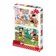 Puzzle 2 in 1 - Minnie cea harnica (66 piese)