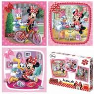 Puzzle 3 in 1 - Vizita lui Minnie (55 piese)
