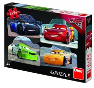 Puzzle 4 in 1 - Cars 3 (54 piese)