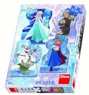 Puzzle 4 in 1 - Poveste de iarna (54 piese)