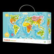 Puzzle - Continentele lumii (100 piese)