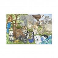 Puzzle de podea Animale protejate  Melissa and Doug