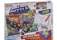 Puzzle de podea - Asambleaza si coloreaza- Autobuzul (50 piese)