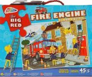 Puzzle de podea - Pompieri in actiune ( 45 piese)