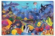 Puzzle de podea Viata subacvatica