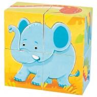 Puzzle din cuburi Animale Salbatice