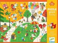Puzzle gigant Djeco în parc