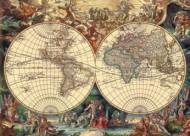 Puzzle - Harta istorica a lumii (1000 piese)