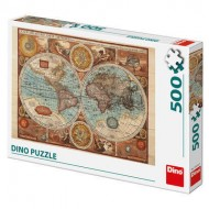 Puzzle - Harta lumii din 1626 (500 piese)